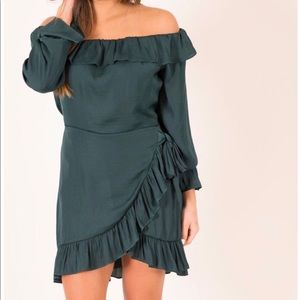 Happy Hour-Hunter Green Dress